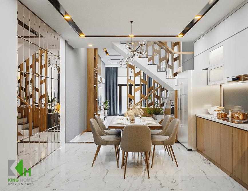 Nhà Cô Sương - Nhà phố 2 tầng 1 tum đẹp & đơn giản