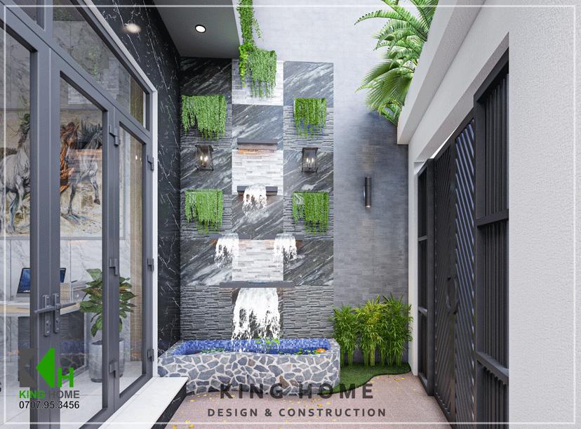 Nhà Chị Lâm - Mặt tiền độc đáo và đầy đủ tiện nghi | Kiến Trúc King Home
