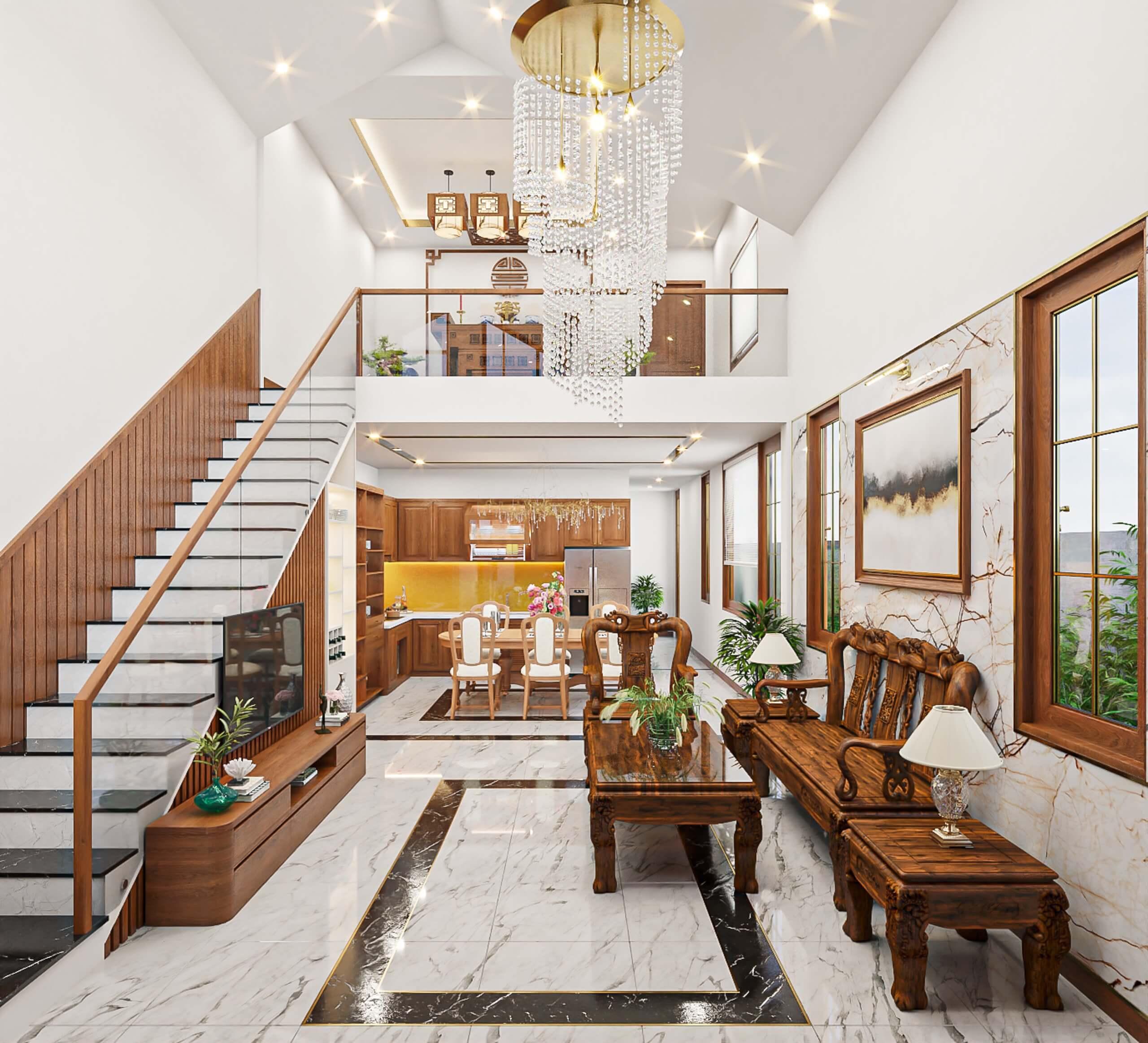 Nhà Chị Thắm - Không gian sống thoáng mát   Kiến Trúc King Home