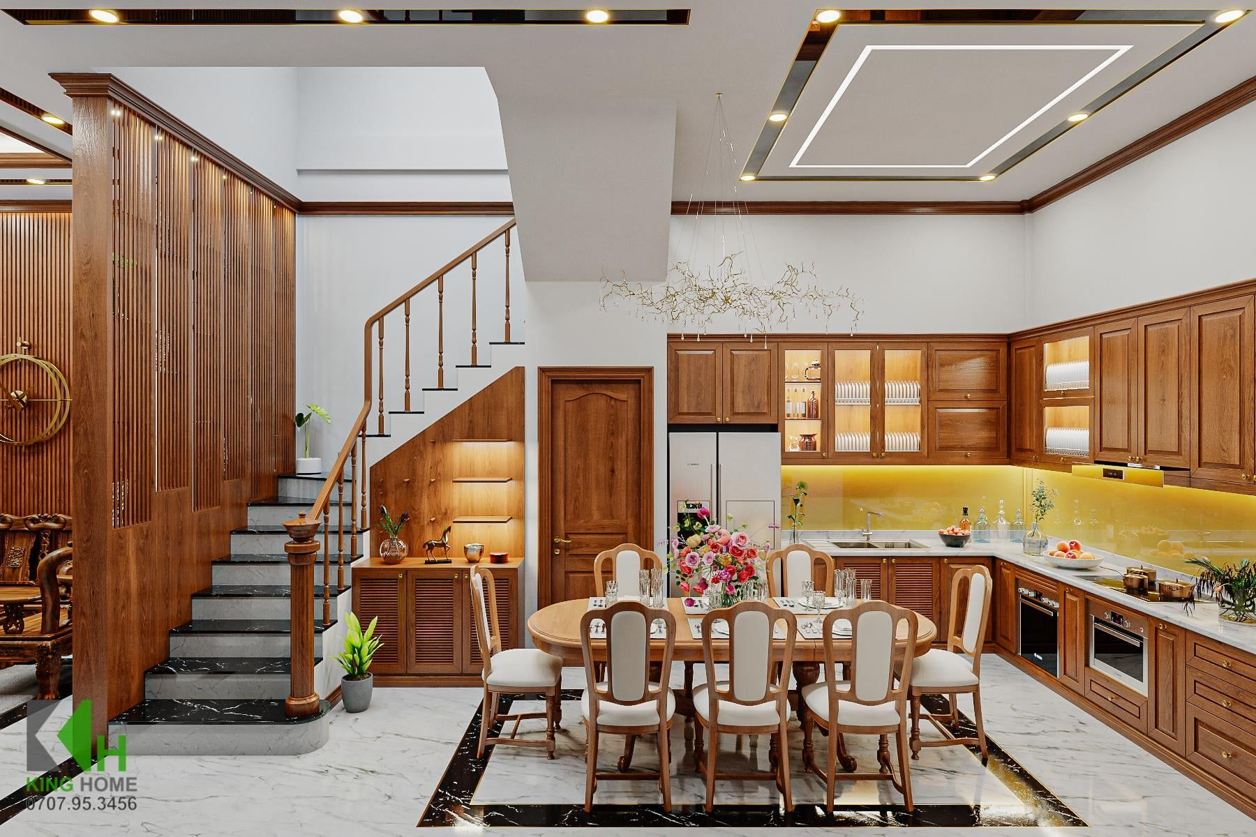 Nhà phố 4 tầng với vẻ đẹp rạng ngời & tinh tế