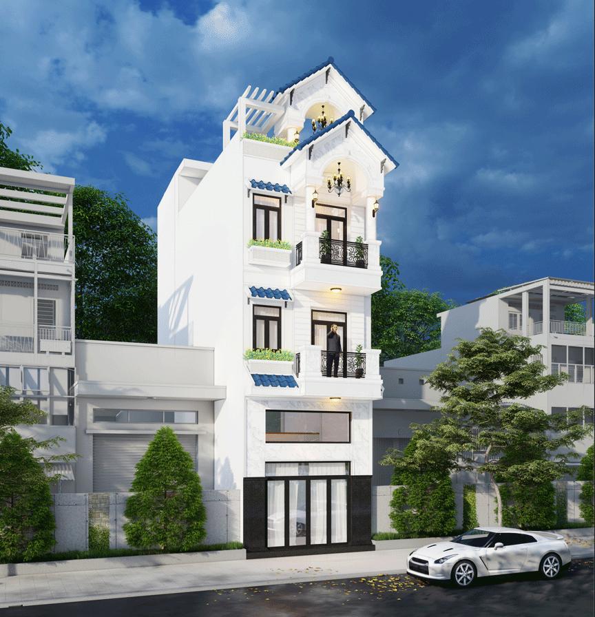 Nhà Chú Danh - Nhà phố kết hợp kinh doanh 3 tầng Mái Thái