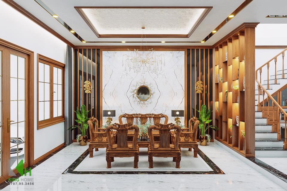 Nhà Anh Lâm - Nhà phố Tân Cổ Điển mái thái