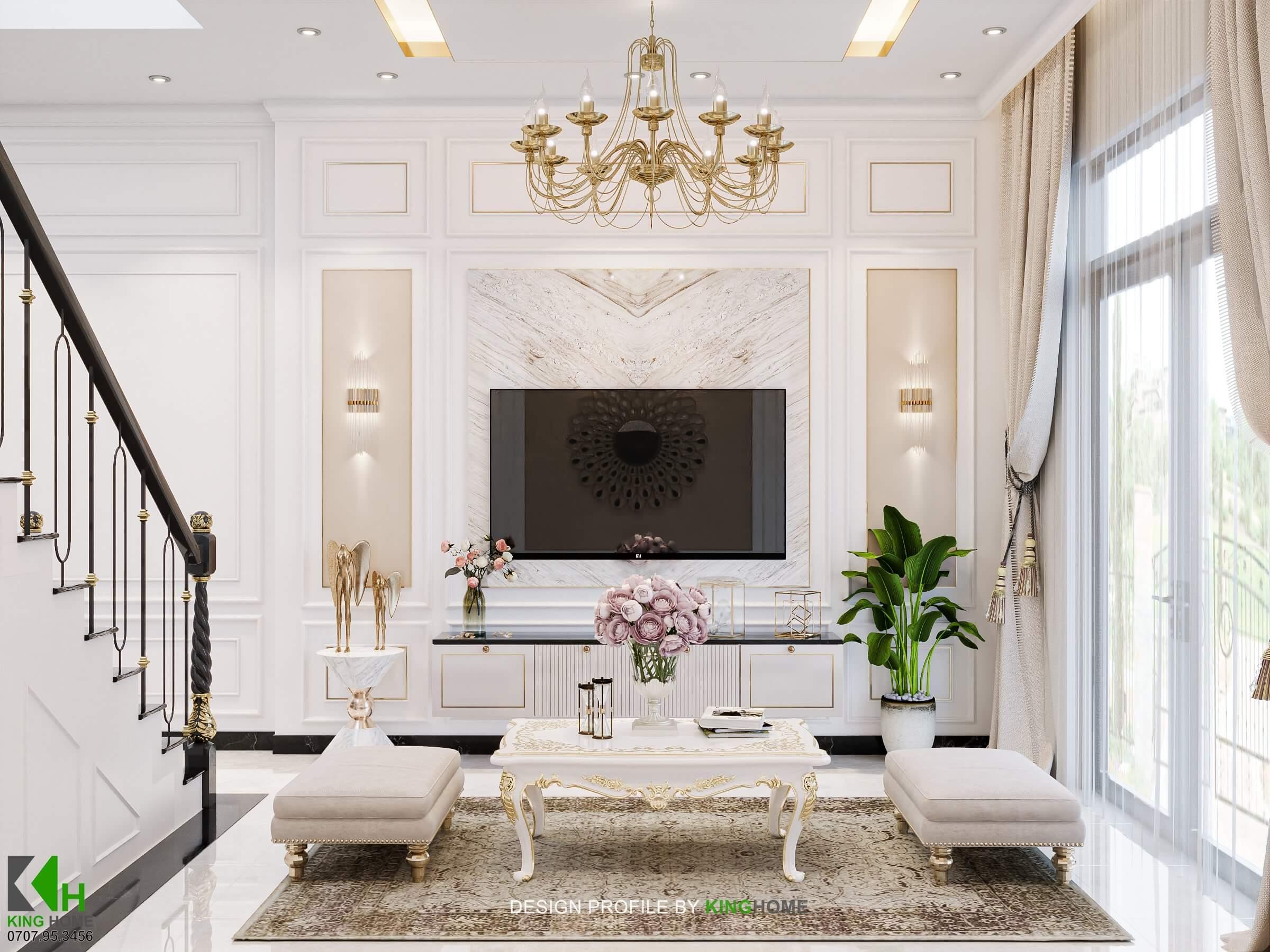 Nhà Em Trân - Nhà phố Tân Cổ Điển cho vợ chồng trẻ